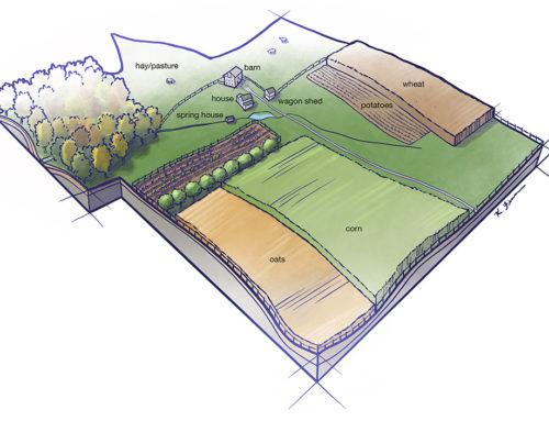 Illustrated Landscape Reconstruction